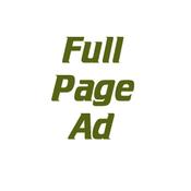 Advertisements - Full Page Ad